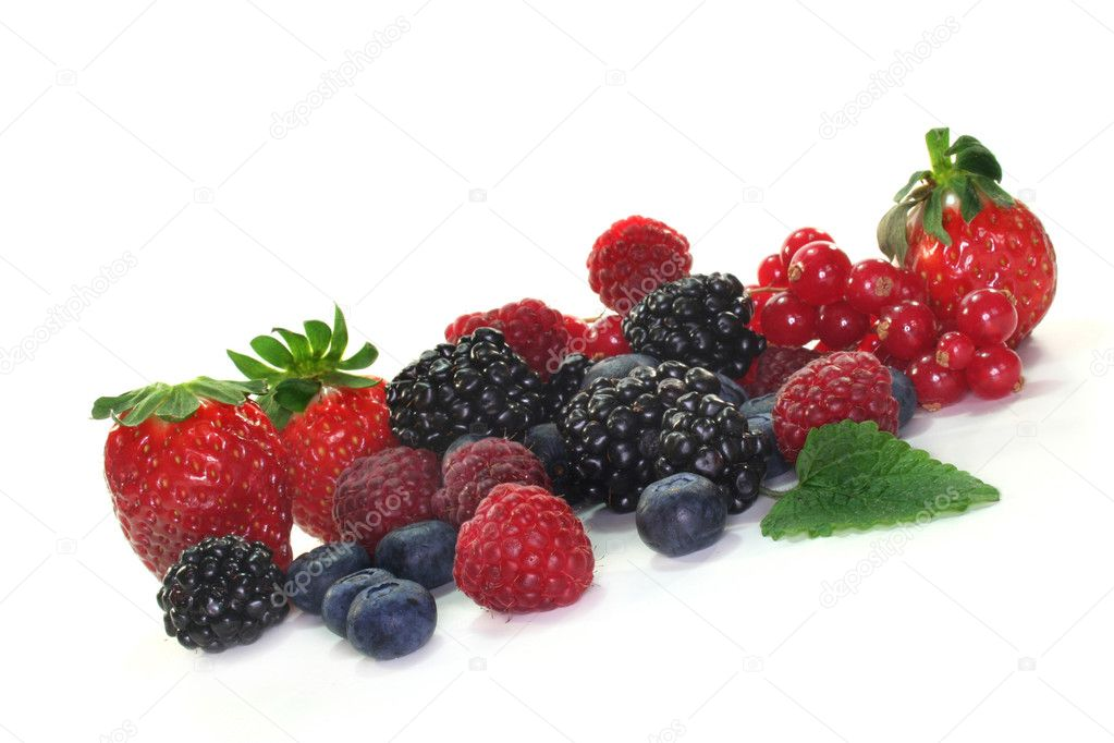 Different berries on a white background — Stock Photo #2558992