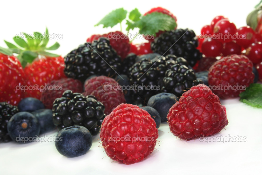 Different berries on a white background — Stock Photo #2558995