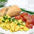 Stock Photo: Scrambled Eggs with Bacon