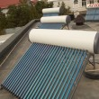 Vacuum solar water heating system — 图库照片