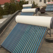 Foto Stock: Vacuum solar water heating system