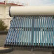 Vacuum solar water heating system — Стоковое фото #1636526