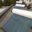 Photo: Vacuum solar water heating system