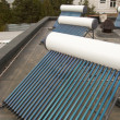 Vacuum solar water heating system — Foto de Stock