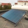 图库照片: Vacuum solar water heating system