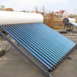 Vacuum solar water heating system — Stockfoto