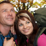 Young tourist couple — Stock Photo