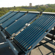Vacuum solar water heating system - Stock Photo