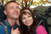 молодой турист пара — Стоковое фото
