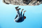 Falling down man — Stock Photo