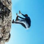 Falling down man — Stock Photo