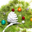Christmas baubles and decoration - Stock Photo