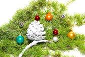 Decorazione e bagattelle di Natale — Foto Stock