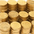 Stack of golden coins — Stock Photo