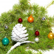 Christmas baubles and decoration — Stock Photo