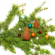 Christmas baubles and decoration — Foto Stock