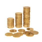 Three columns of gold — Stock Photo
