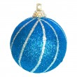 Blue Christmas bauble. — Stock Photo