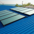 Solar water heating system - Stok fotoraf