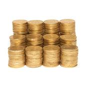 Stack av gyllene mynt — Stockfoto