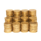 Stack of golden coins — Stockfoto