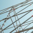 Stock Photo: Part of construction scaffold