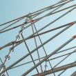 Part of the construction scaffold — Stockfoto