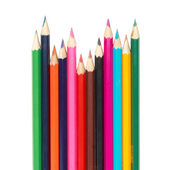 Raw of colored pencils — Stock Photo