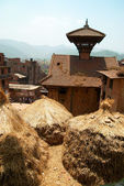 Roofs of Baktaphur city, Nepal — Stock Photo