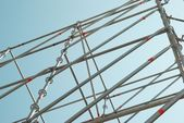 Part of the construction scaffold — Stock Photo