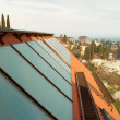 Solar water heating system - Stockfoto