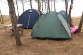 Campsite in the forest — Stock Photo