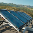Vacuum solar water heating system - Stockfoto