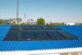 System ogrzewania solarne — Zdjęcie stockowe