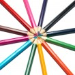 Royalty-Free Stock Photo: Circle of colored pencils