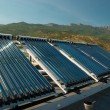 Vacuum solar water heating system - Foto Stock