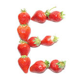 Strawberry health alphabet — Stock Photo