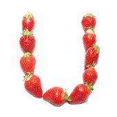 Strawberry health alphabet — Stock Photo
