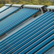 Vacuum solar water heating system — Stock Photo #2084730