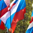 Russian flags - Stock Photo