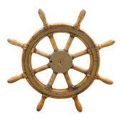 Oude boot stuurwiel — Stockfoto