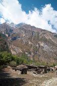 Tibetan village in Himalayan mountain — Stock Photo