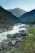 Marsyangdi river, Tibet. — Stock Photo