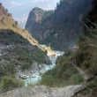 Royalty-Free Stock Photo: Marsyangdi river and Annapurna mountain