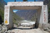 Gate to the Tibetan city — Stock Photo