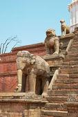 旧的佛教雕像 — 图库照片
