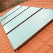 Solar water heating system - Foto Stock