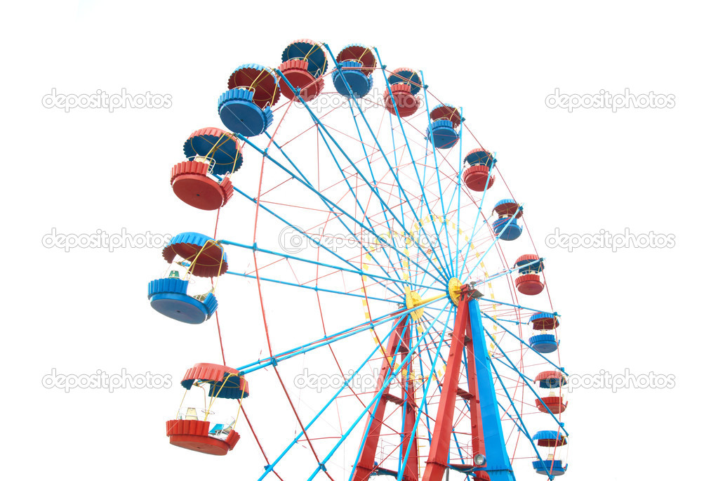 The Ferris wheel isolated on white background — Stock Photo #2567983