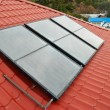 Solar water heating system. - Foto de Stock