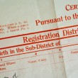Stock Photo: Birth Certificate
